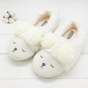 Тапочки «Мишки» белые с задником