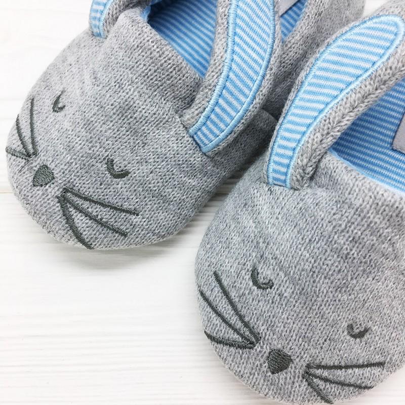 Тапочки детские Halluci «Кролики» с задником
