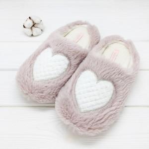 Тапочки Halluci «Пушистые сердечки» розовые