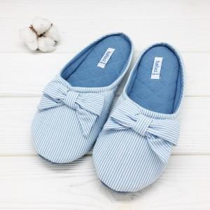 Тапочки «Полосатики» голубые