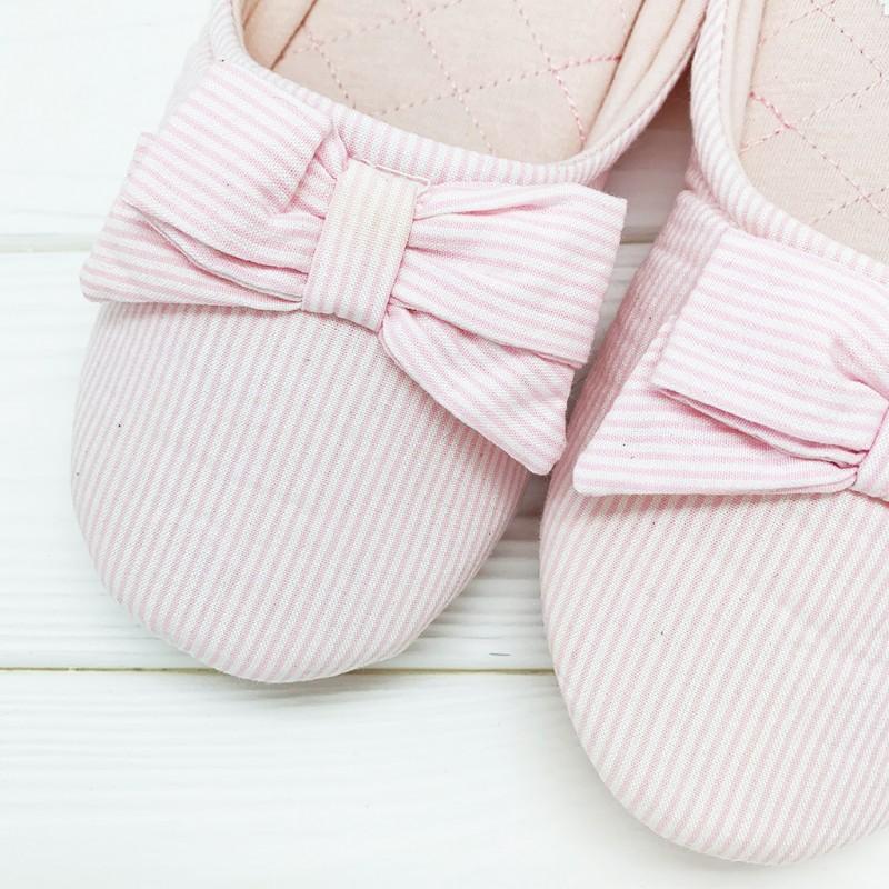 Тапочки «Полосатики» розовые