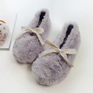 Тапочки «Fluffy» серые с задником
