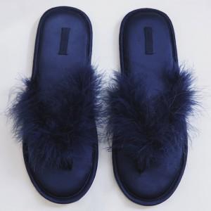 Тапочки «Пёрышки» синие