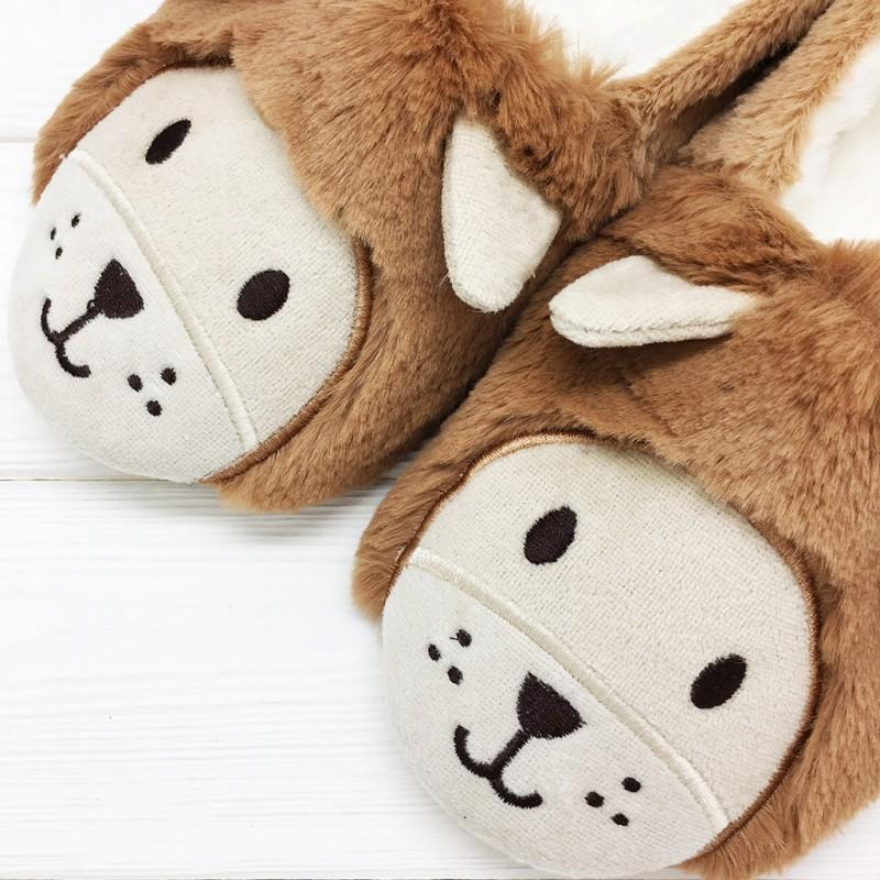 Тапочки Halluci «Львы» с задником