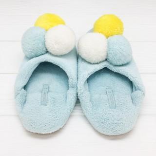 Тапочки «Мороженое» голубые