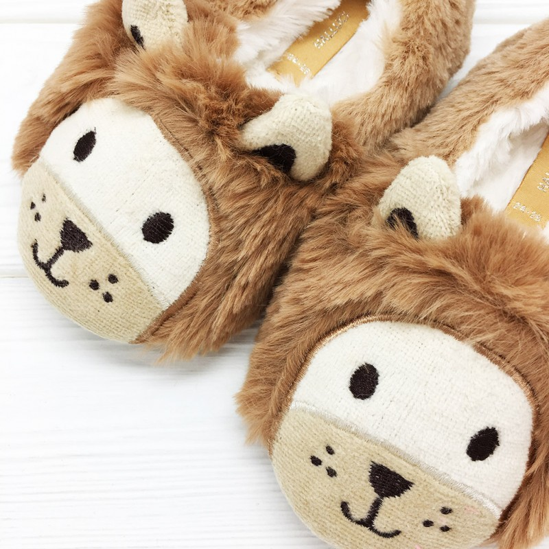 Тапочки детские Halluci «Львята» с задником