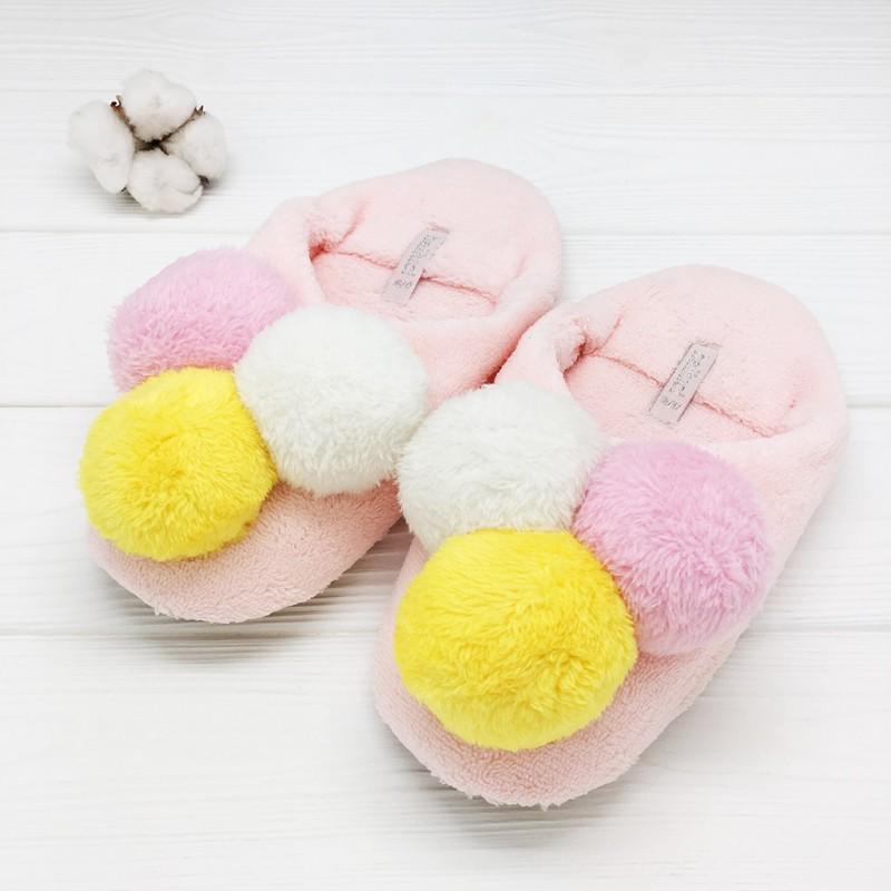 Тапочки Halluci «Мороженое» розовые