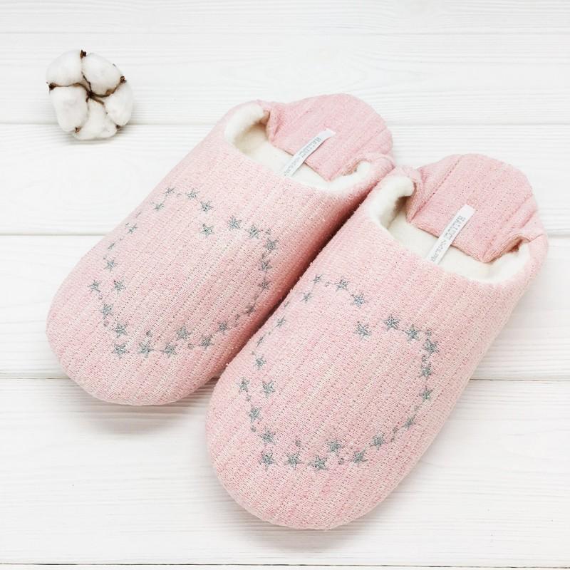 Тапочки Halluci «Сердечки» розовые