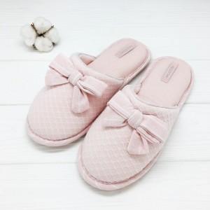 Тапочки Halluci «Бантики» розовые