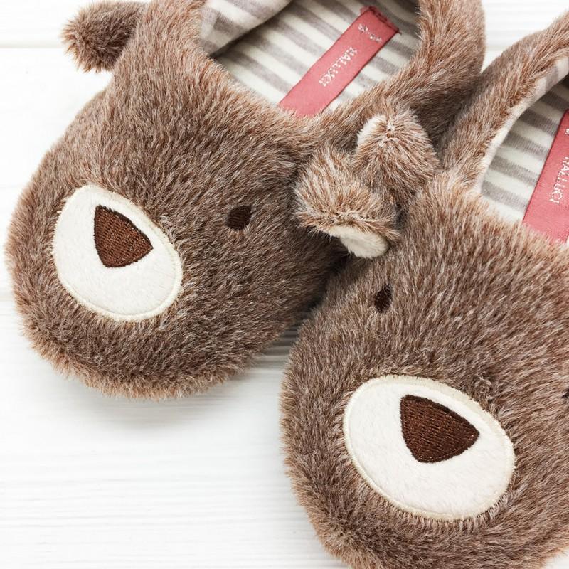 Тапочки детские Halluci «Мишки» с задником