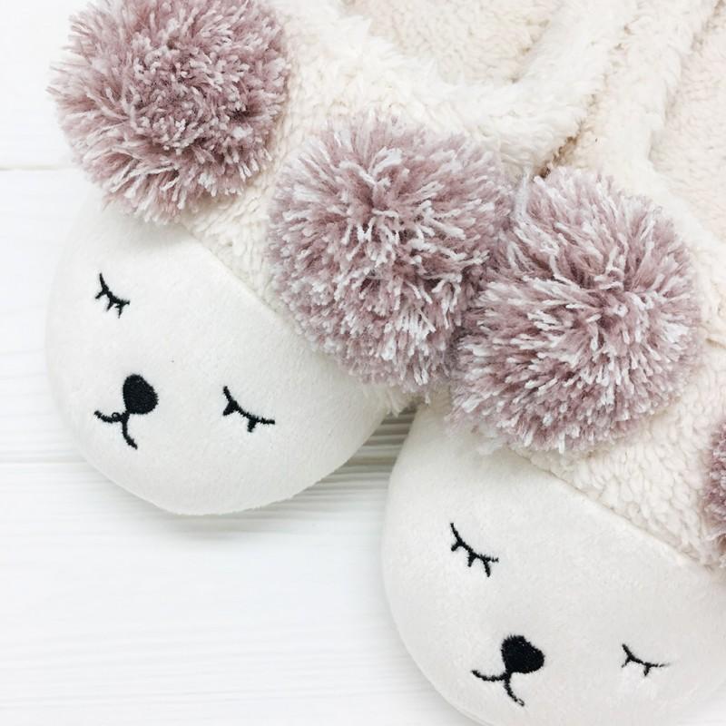 Тапочки «Мишки» кремовые