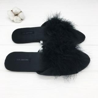 Тапочки «Мохнатики» чёрные
