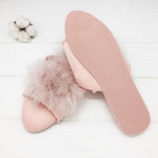 Тапочки Halluci «Мохнатики» розовые