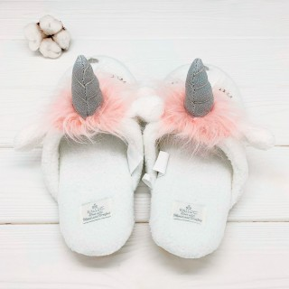 Тапочки Halluci «Единороги» розовые