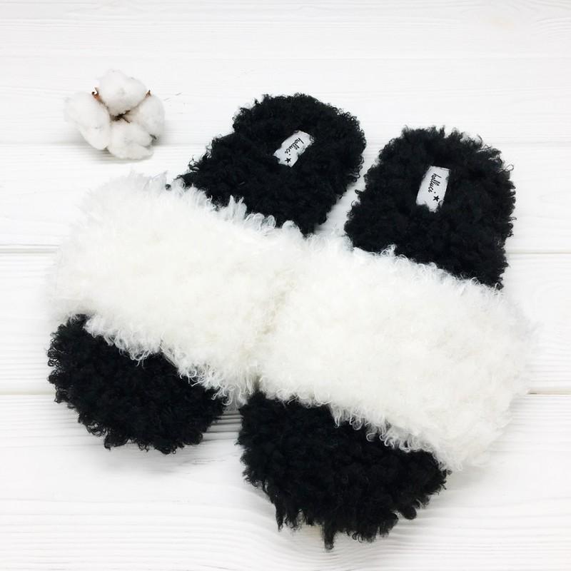 Тапочки «Стиль» черно-белые
