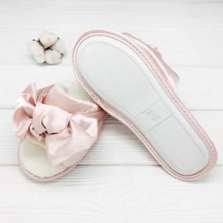 Тапочки «Шёлковые бантики» розовые