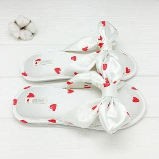 Тапочки Halluci «Шёлковые сердечки»