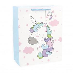 Подарочный пакет Halluci «Кудрявый Единорог» L