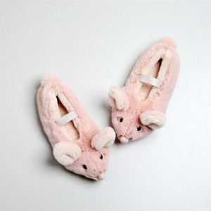 Тапочки детские «Мышки» розовые с задником