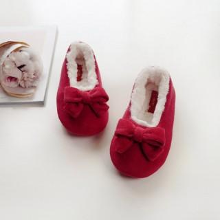 Тапочки детские «Махровые бантики» с задником