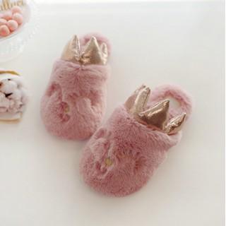 """Тапочки детские """"Принцессы"""" розовые с задником"""