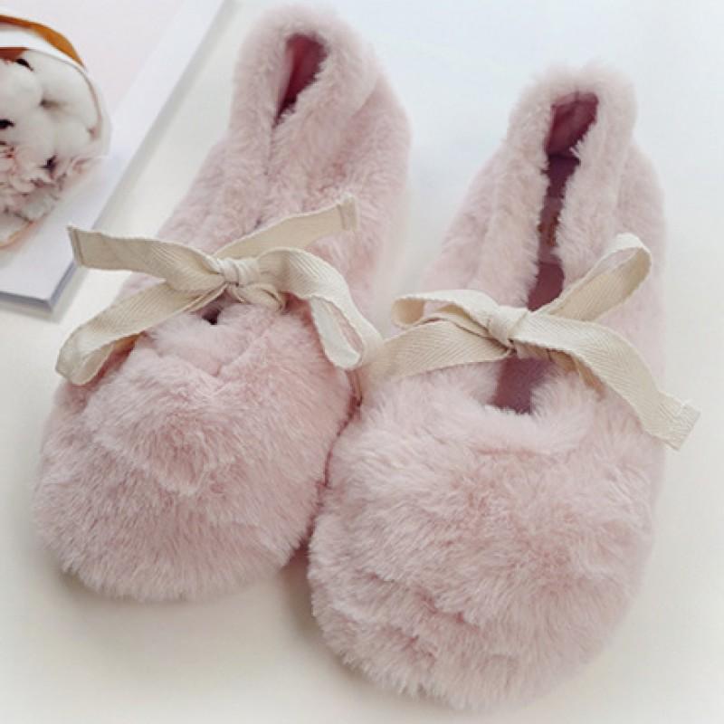 Тапочки «Fluffy» розовые с задником