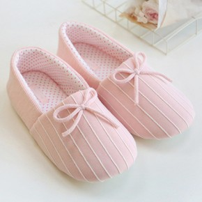 Тапочки «Полоски» розовые с задником