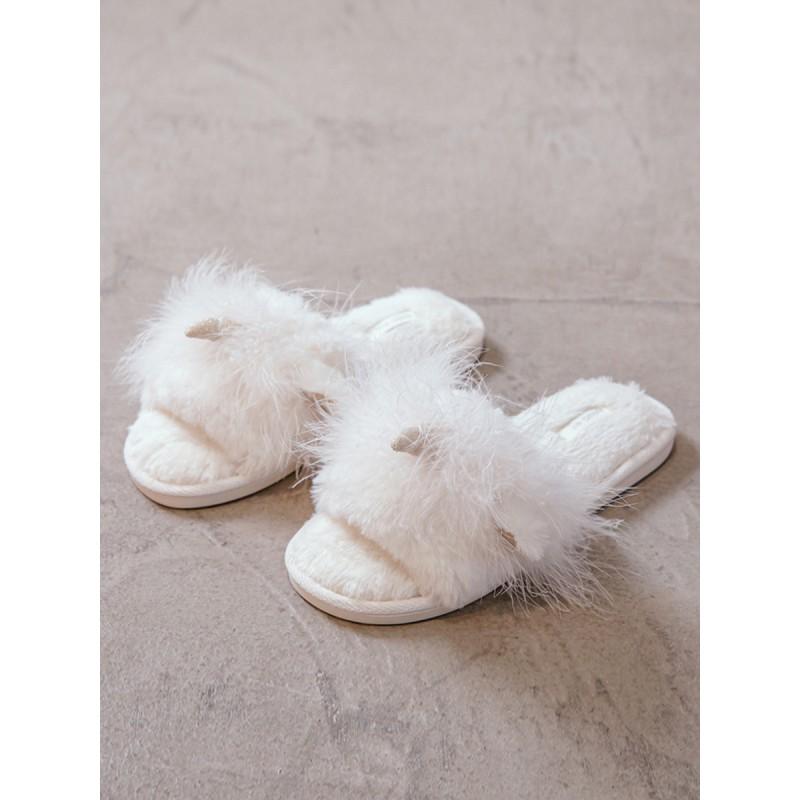 Тапочки «Пушистые Единороги» белые