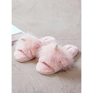 Тапочки «Пушистые Единороги» розовые