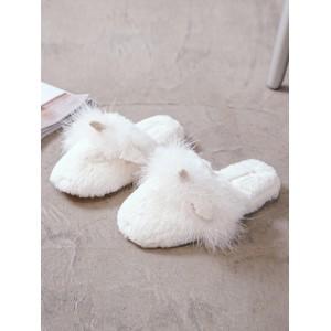 Тапочки «Пушистые Единороги» белые закрытые