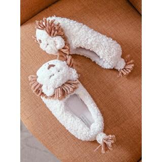 Тапочки «Львёнок» белые с задником