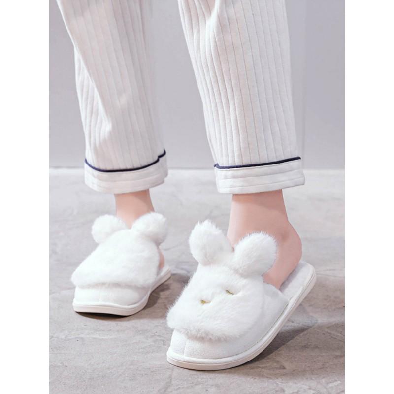 Тапочки «Сонные кролики» белые