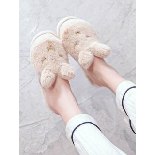 Тапочки «Сонные кролики» бежевые