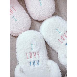 Тапочки «Ушастые единороги» белые