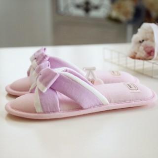 Тапочки «Безе» бело-розовые