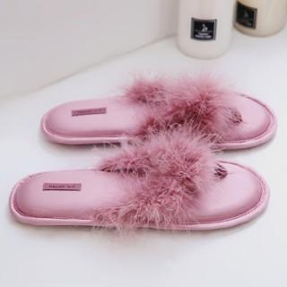 Тапочки «Пёрышки» розовые