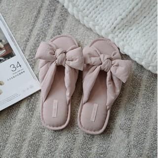Тапочки «Банты» розовые