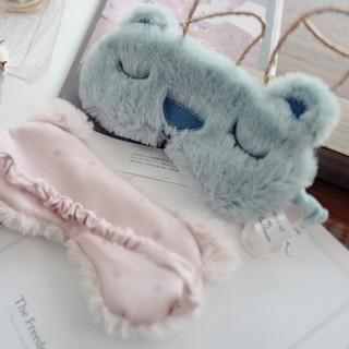 Маска для сна «Медвежонок» голубая