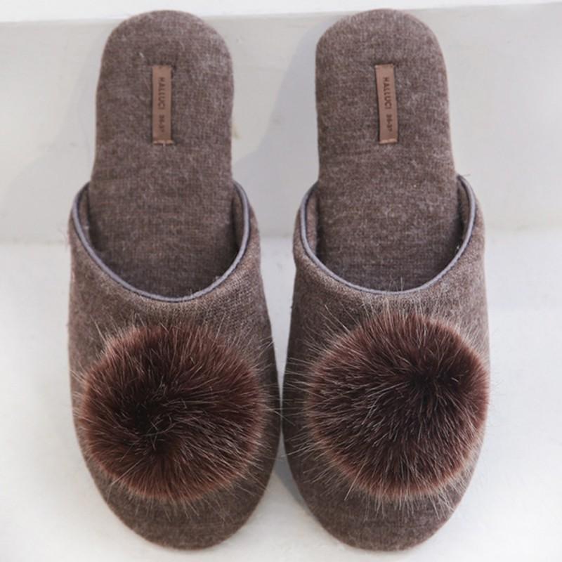 Тапочки Halluci «Каприз» коричневые