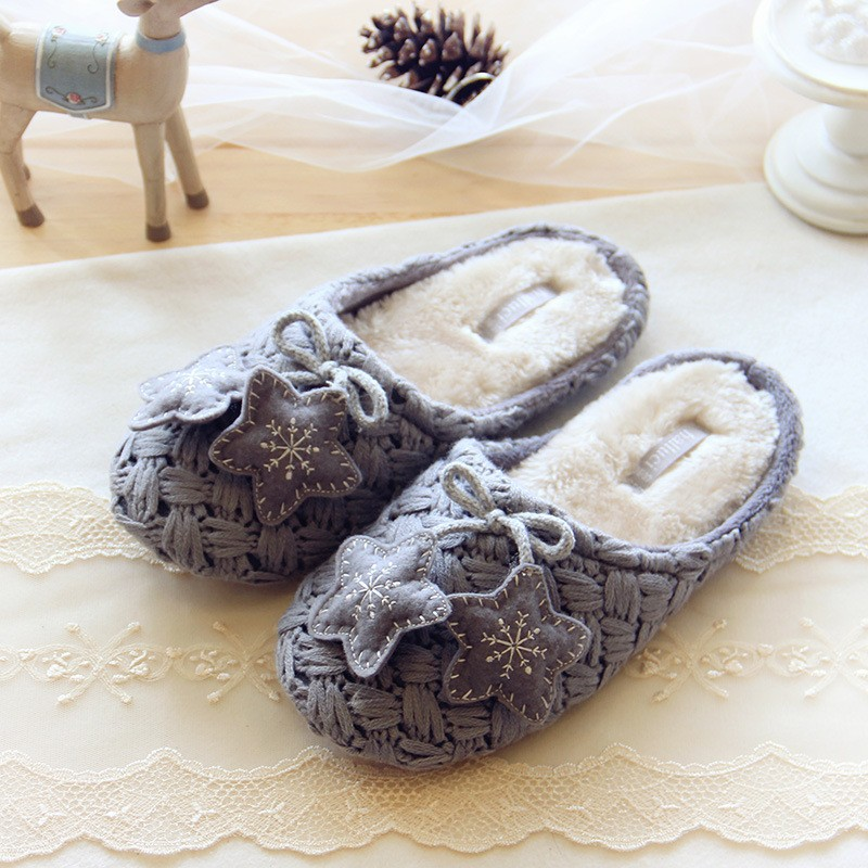 Тапочки Halluci Knitted Grey