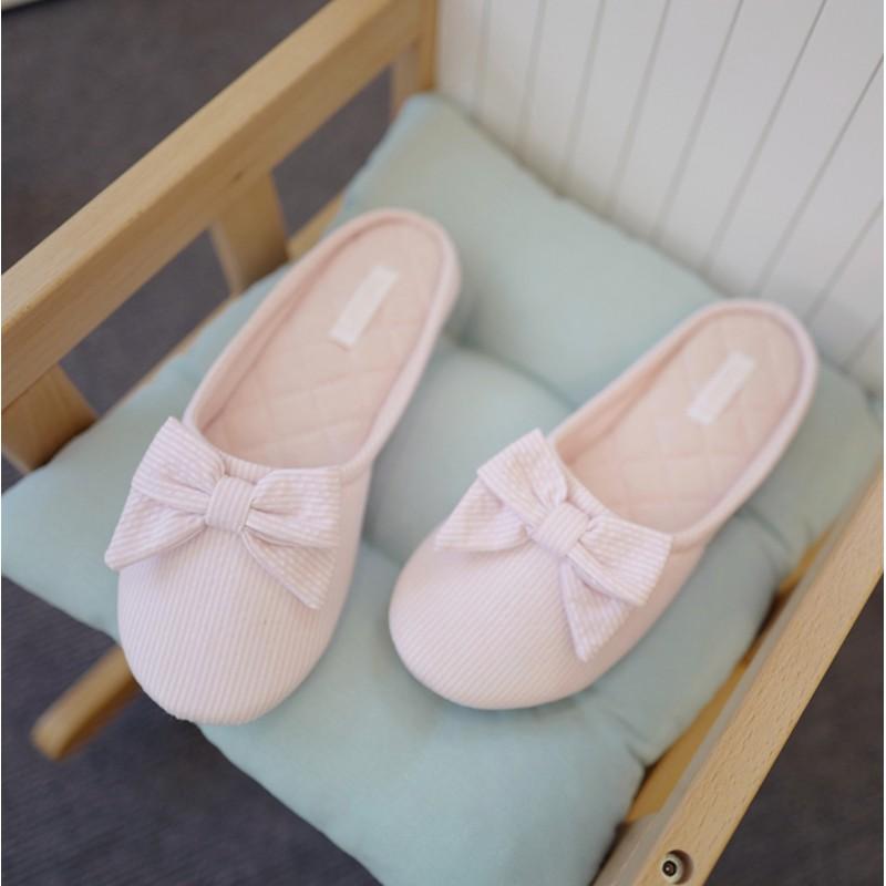 Тапочки Halluci «Полосатики» розовые