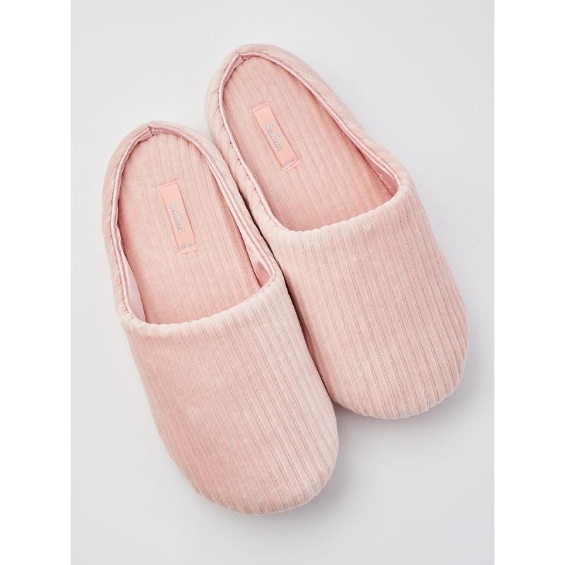 Тапочки «Рубчик» розовые