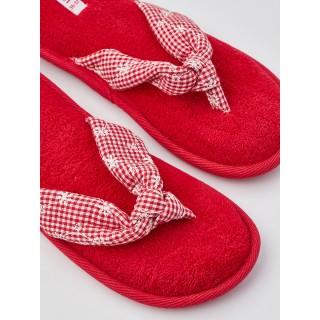 Тапочки «Шотландка» красные